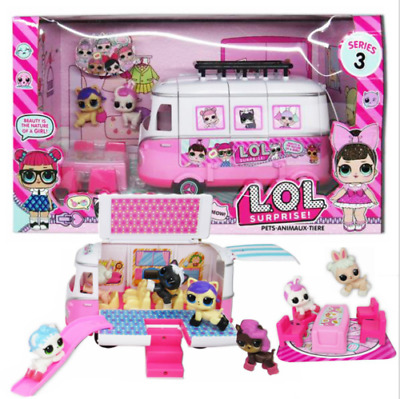 Kids LOL Surprise Doll Picnic Bus Car Playset Baby Figure Topper Girls Gifts