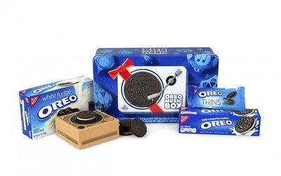 Oreo Music Box Cookie Record Player Collectible Holiday Gift Tin *FREE SHIPPING*