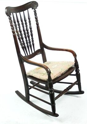 Antique Windsor Rocking Chair - FREE Shipping [PL4763]