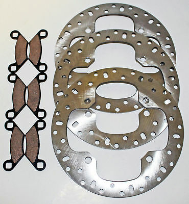 2014 Polaris 850 XP Scrambler Front And Rear Brakes Brake Rotors And Brake Pads