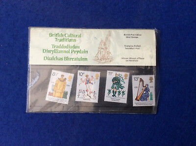 Presentation pack set of four UK stamps 1976, British Cultural Traditions