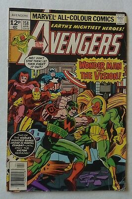 The Avengers 158 Bronze Age 1977 VG First Graviton