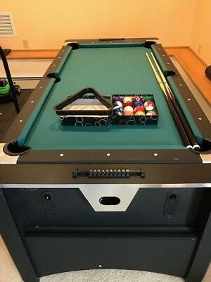 Pool Table Billiards 2 In 1 Glide Air Hockey Home Complete Set
