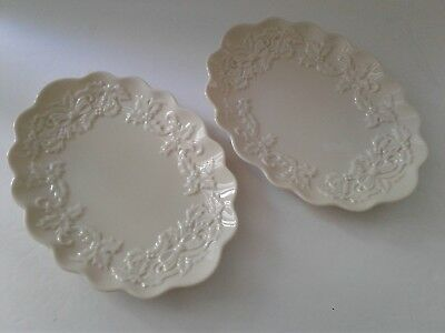 2 - Lenox SPECIAL Christmas Holly China Oval Serving Dishes
