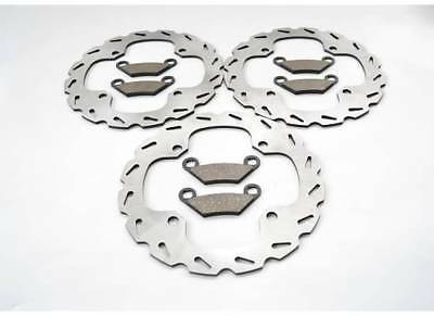 2014 Polaris 850 XP Scrambler Front And Rear Sport Brake Rotors And Brake Pads