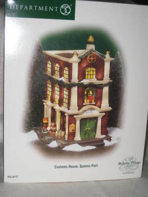"Dept 56 Dickens Village Series ""CUSTOMS HOUSE, QUEENS PORT"", #56.58727  ""NEW"""