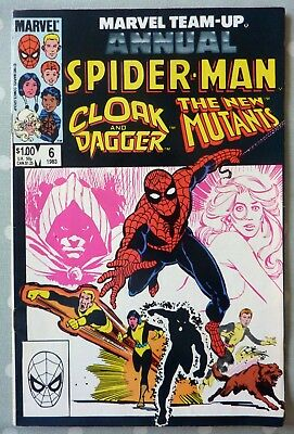 Marvel Team Up Annual 6 Spider-Man New Mutants Cloak And Dagger Marvel FN