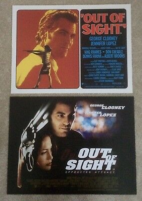 Out Of Sight 1998 2x DIFFERENT Small Quad Cinema Posters
