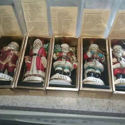 Memories Of Santa Collection Lot of 5 Figures.  No Boxes