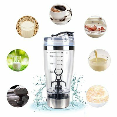 450ML Battery Powered Self Stirring Milk Shake Cup Smart Electric Coffee Cup#X