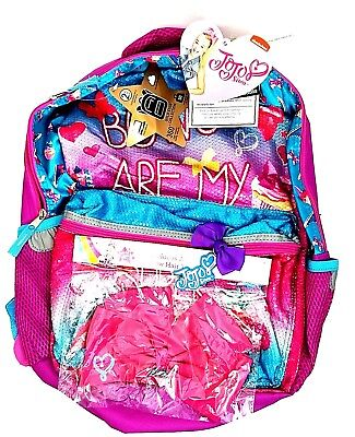 """Jojo Siwa 16"""" Backpack Bows are my superpower Pink w Bonus Bow Hair Tie New"""