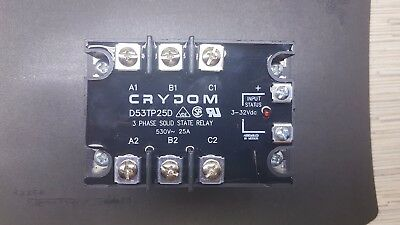 Crydom D53TP25D 3 Phase Solid State Relay 530V 25A Control DC 3- 32V