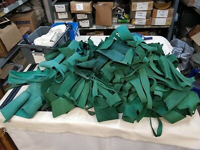 10 Kilos Of Green Nubuck Leather Offcuts Heavyweight 2Mm Thick Crafts Larp 336
