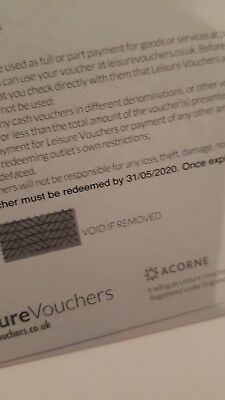 £100 worth of Warner Leisure hotel vouchers valid to 5th May 2020 new an unused