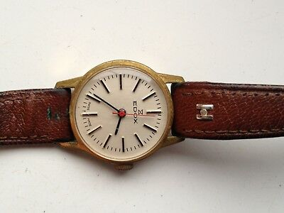 Vintage Edox Swiss Made Manual Wind 17 Jewels Working Watch