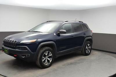 2014 Cherokee Trailhawk Jeep Cherokee True Blue with 43,501 Miles, for sale!