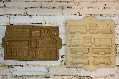 The Pampered Chef Gingerbread Train And School / Post Office Cookie Mold 1997