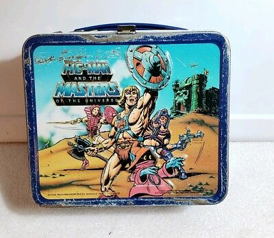 Vintage 1984 HE-MAN And The Masters Of The Universe Lunchbox