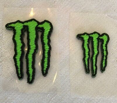 Monster Energy Drink LOGO Patch For Athletes Lot/2 - Stick On