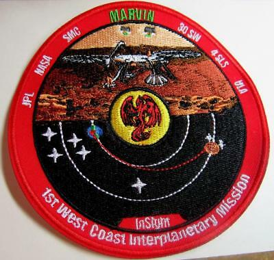 Insight Marvin Mars Space Patch 1St West Coast Interplanetary Mission Jpl 30Sw