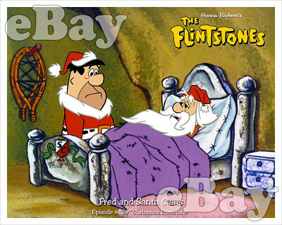 Rare! CHRISTMAS FLINTSTONE Cartoon Color TV Photo #1 HANNA BARBERA Studios