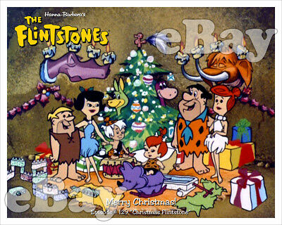 Rare! CHRISTMAS FLINTSTONE Cartoon Color TV Photo #6 HANNA BARBERA Studios