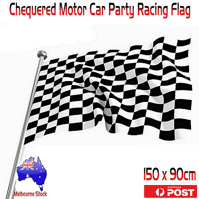 Checkered Black & White Chequered Motor Car Party Racing Flag Supplies 150x90cm