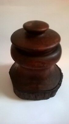 vintage treen Australian mulga wood cigarrete /cocktail stick dispencer