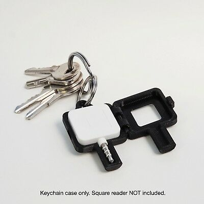 Keychain Case for Square Magstripe Credit Card Reader - Black