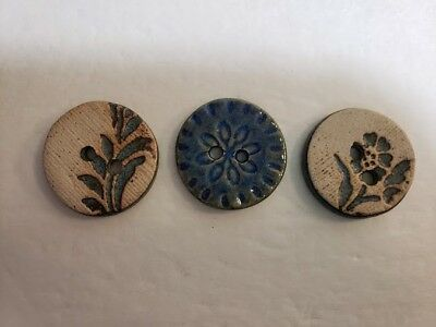 Hand Made Ceramic Buttons Made in Wales