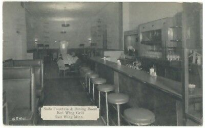 1938 Red Wing Minnesota Red Wing Grill Soda Fountain & Dining Room