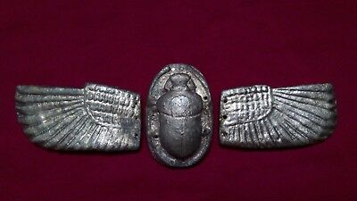 Ancient Egyptian Antiquities rare winged Scarab (721-707 BC)