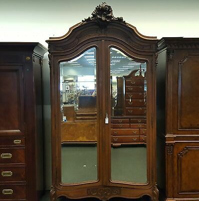 Antique Armoire with Mirrors