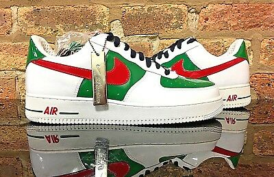 """Nike Air Force 1 Premium """"MEXICO""""  WHITE/SPORT RED-PINE GREEN Size:11"""