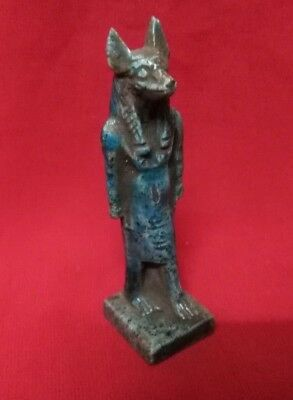 Ancient Egyptian Antiquities Statue of God Anubis - (c. 3100 – c. 2890 BC)
