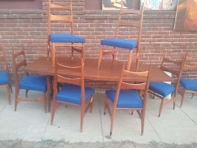 Frank Kyle Mid century Dining Set Rodrigues Mexican Modern Brazil Eames