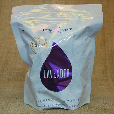 Young Living LAVENDER CALMING BATH BOMBS 4-pack NEW Unopen SHIPS 24 hrs NATURAL