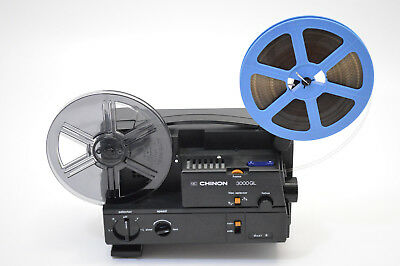 Chinon 3000GL Dual 8mm Super 8 Movie Projector SERVICED-Transfer-Watch Old Films