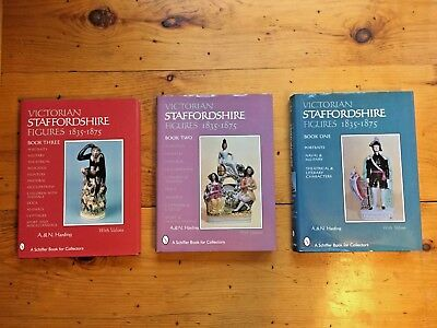 3 VICTORIAN STAFFORDSHIRE FIGURES Books 1-3 1835-1875 A.& N. Harding w/Values