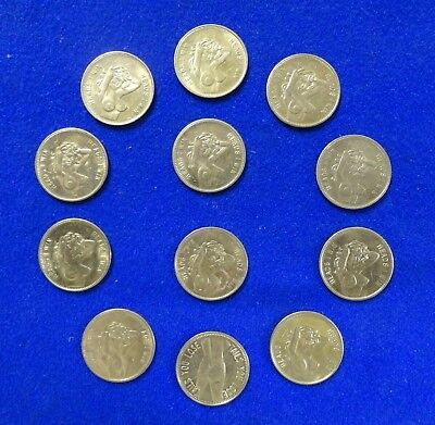 12 USED Sexy Girl Novelty Token Coins Heads I Win - Tails You Lose Betting Token