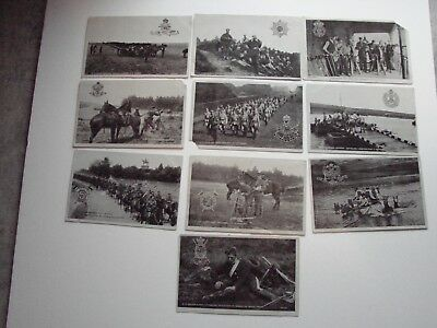 British Pre WW1 Military Post Cards,  10 x The Star Series