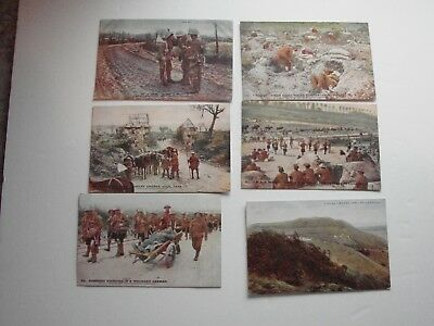 British WW1 Military Post Cards,  5 x Daily Mail Battle Pictures, 1 x P.Co