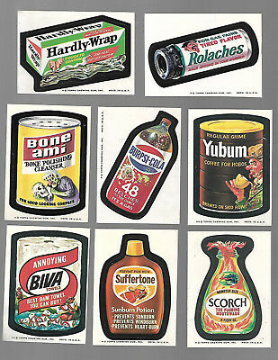 1974 Topps Wacky Packages Original 8th Series 8 Near Complete 27/30