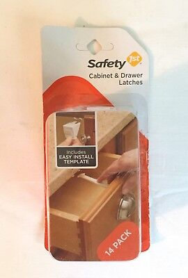Safety 1st 14 Pack Cabinet Locks & Drawer Latches Child Proof - #48390 NEW