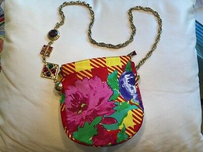 Authentic Vintage Gianni Versace Couture Shoulder Bag with Chain Strap 6864c70650