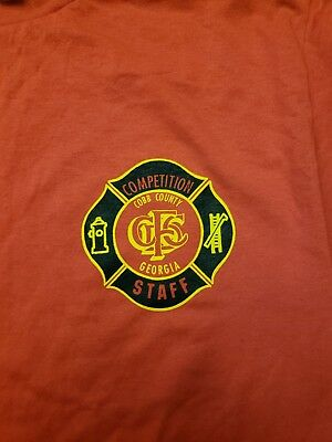 Cobb County Fire Dept Competition Staff t-shirt size Large