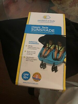 protect-a-bub twin sunshade attachment for carriages.    (Free Gift Included)