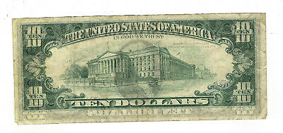 25. Federal Reserve $10 Note With Off Set Printing Error / Off Center