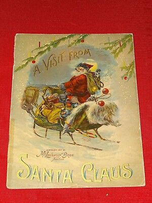 Outstanding Rare childrens book A Visit from Santa Claus 1901 McLoughlin Bros