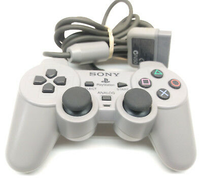 Original OEM Sony PlayStation 1 PS1 Controller Dualshock Grey Official TESTED